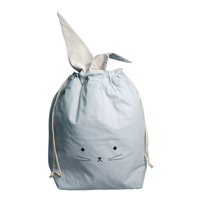 Fabelab Storage Bag - Cat - Foggy Blue-Storage- Natural Baby Shower