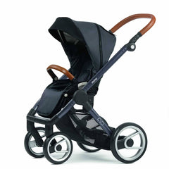 Strollers - Mutsy Evo Pushchair - Urban Nomad Dark Grey With Dark Grey Cognac