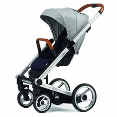 Strollers - Mutsy Igo Pushchair - Pure Fog With Silver Cognac