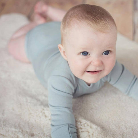 Superlove Merino Baby Bodysuit - Cloud Grey-Bodysuits- Natural Baby Shower