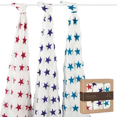 Swaddling Wraps - Aden & Anais Bamboo Swaddles - Celebration - 3 Pack