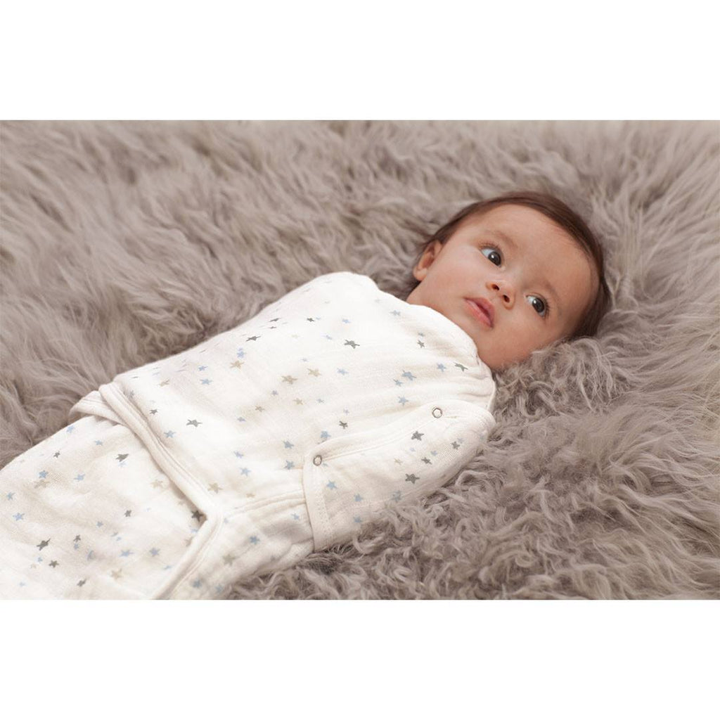 Swaddling Wraps - Aden & Anais Muslin Easy Swaddle - Night Sky - Starburst