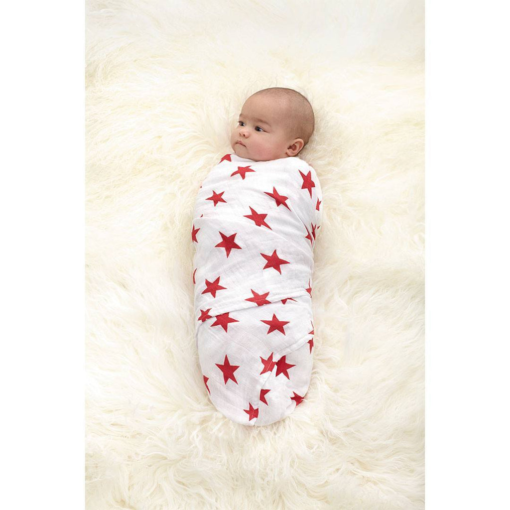 Swaddling Wraps - Aden & Anais Muslin Swaddle - Radiant Red