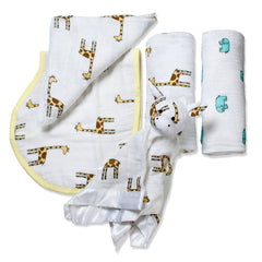 Swaddling Wraps - Aden & Anais New Beginnings Gift Set - Jungle Jam