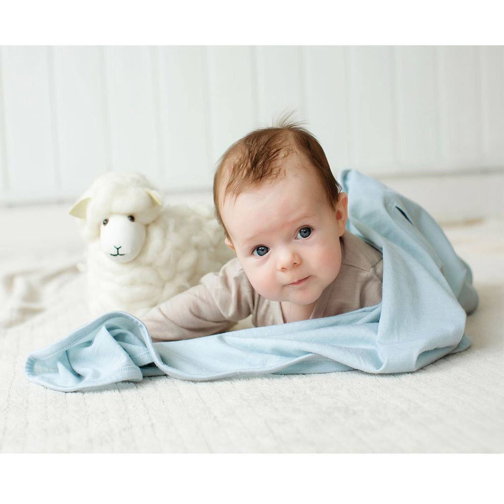 Merino Kids Cocooi Swaddle & Hat - Turtle Dove Melange - Swaddling Wraps - Natural Baby Shower