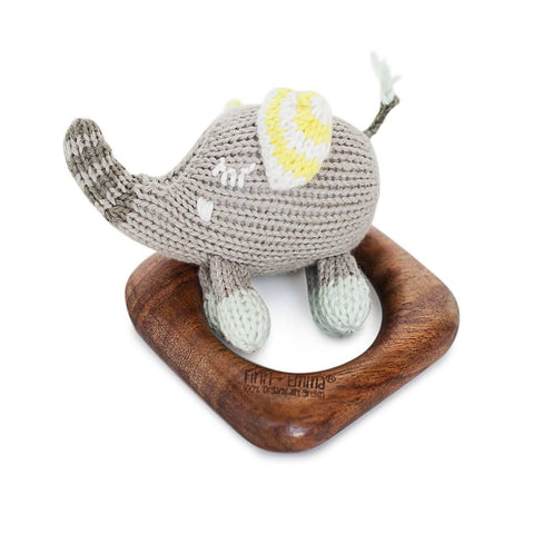Finn + Emma Teething Ring - Piper the Elephant - Teethers - Natural Baby Shower
