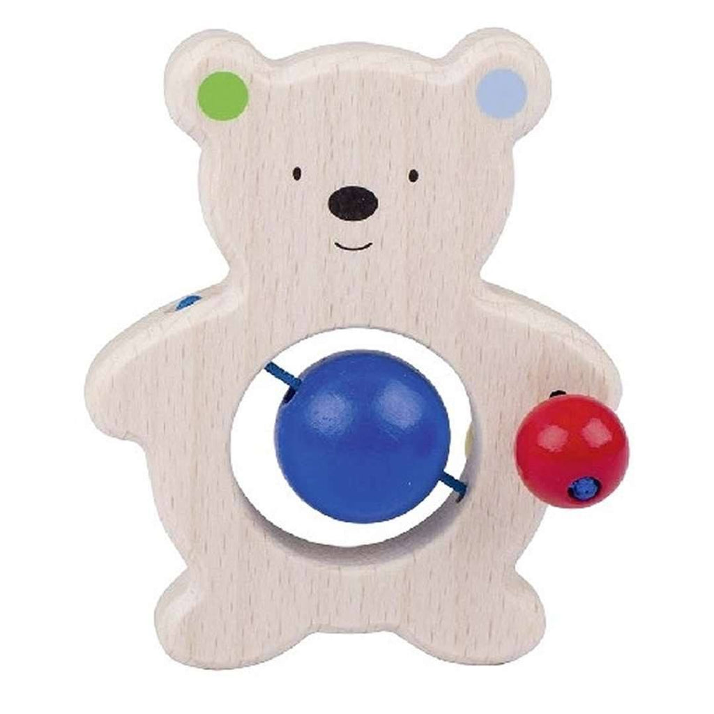 Heimess Wooden Touch Ring - Bear with Pearls - Teethers - Natural Baby Shower