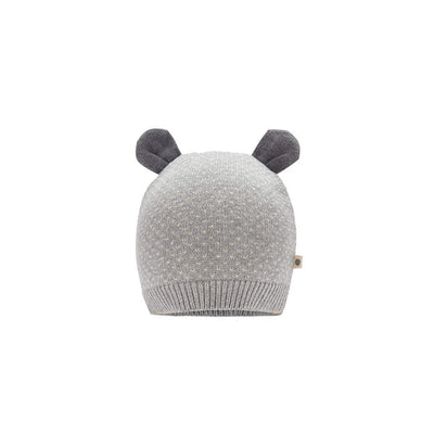 The Bonnie Mob Acacia Knitted Hat - Grey-Hats- Natural Baby Shower