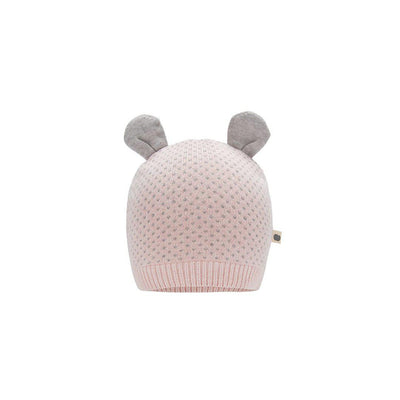 The Bonnie Mob Acacia Knitted Hat - Pink-Hats- Natural Baby Shower