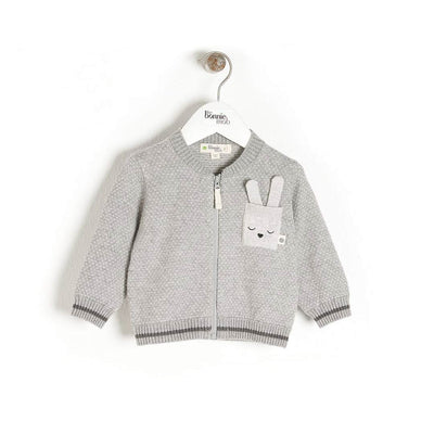 The Bonnie Mob Ash Cardigan - Grey-Cardigans- Natural Baby Shower