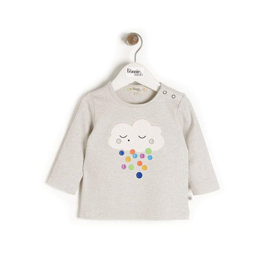 The Bonnie Mob Elder T-Shirt - Raincloud-Short Sleeves- Natural Baby Shower