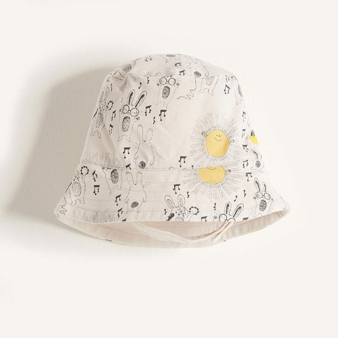 The Bonnie Mob Dexy Baby Reversible Sun Hat - Sunny Bunny