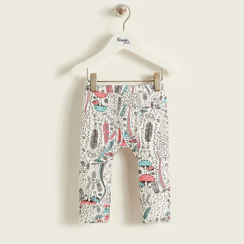 The Bonnie Mob Bronski Kids Printed Leggings - Pink Wilderness
