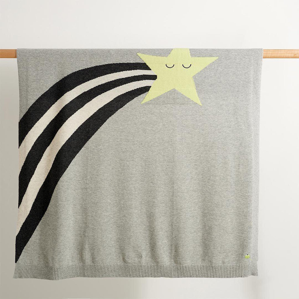 The Bonnie Mob - Shooting Star Rainbow Intarsia Blanket