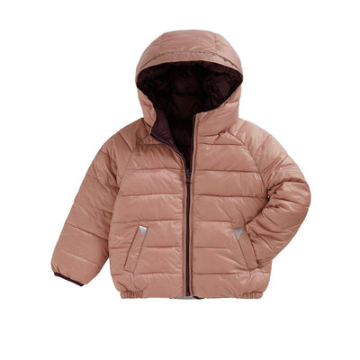 TOASTIE Reversible Puffer Jacket - Black Cherry/Blossom-Coats & Snowsuits- Natural Baby Shower