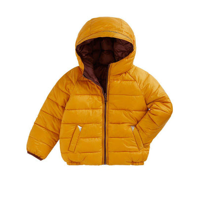 TOASTIE Reversible Puffer Jacket - Ochre/Chestnut-Coats & Snowsuits- Natural Baby Shower