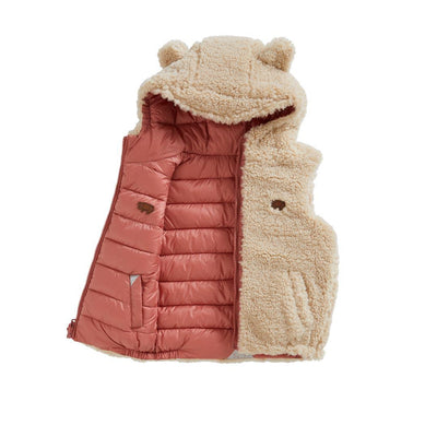 TOASTIE Sherpa Reversible Gilet - Biscuit/Cameo Pink-Coats & Snowsuits- Natural Baby Shower