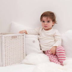 Tops & T-shirts - Bambino Merino Long Sleeve Vest Top - Ivory