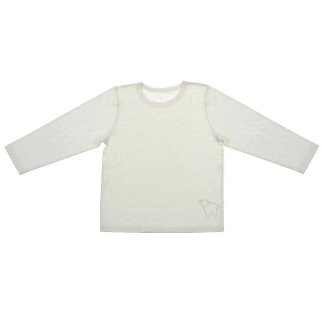 Bambino Merino Long Sleeve Vest Top - Ivory - Tops & T-shirts - Natural Baby Shower