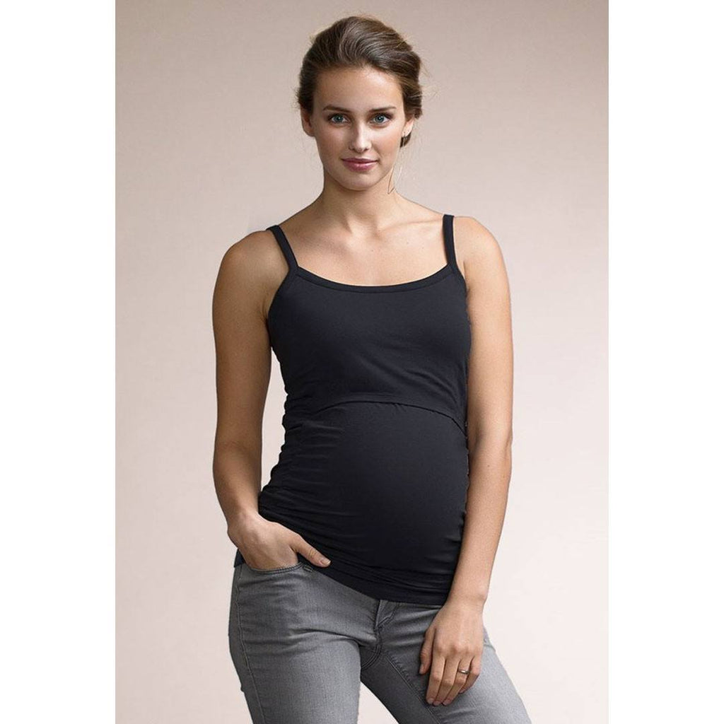 Tops & T-shirts - Boob Maternity & Nursing Ruched Singlet - Black