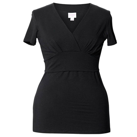 Tops & T-shirts - Boob Maternity & Nursing Short Sleeve Sophia Top - Black
