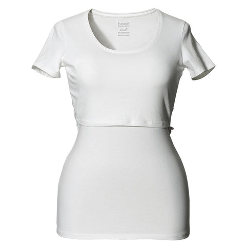 Tops & T-shirts - Boob Maternity & Nursing Short Sleeve Top - White