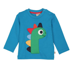 Tops & T-shirts - Frugi Discovery Applique Top - Blue/Dino
