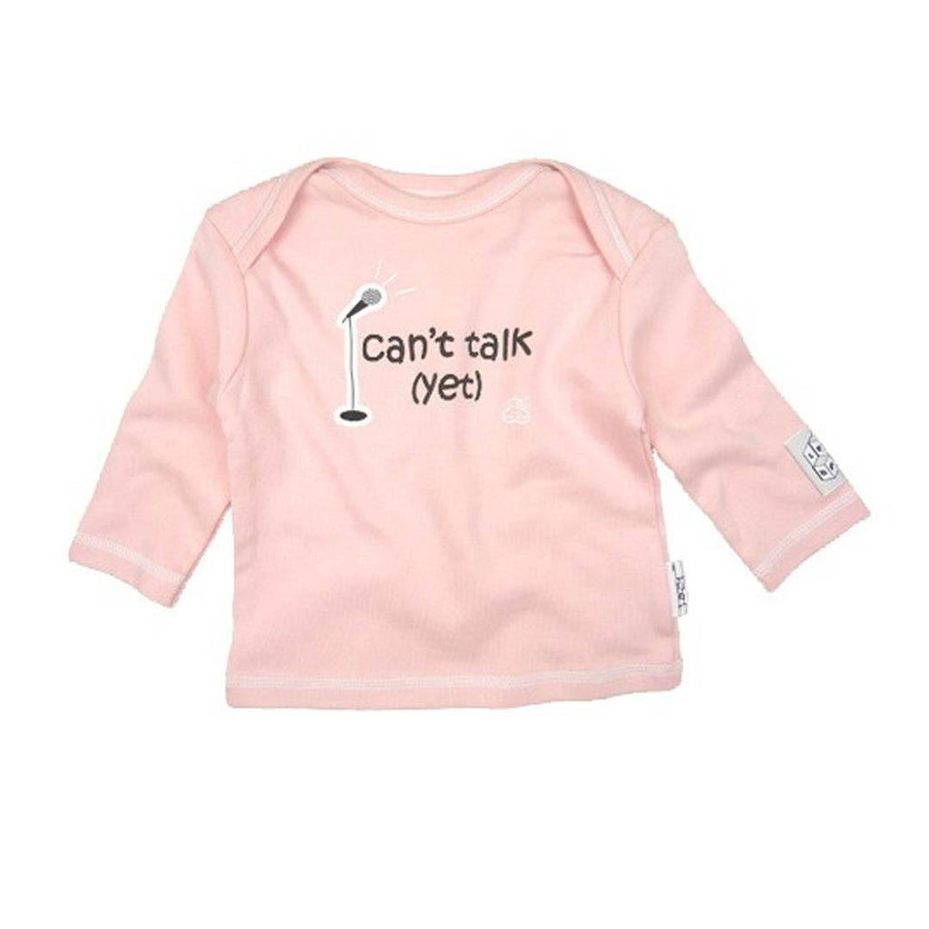 Lazy Baby Top - Can't Talk Yet - Pink-Long Sleeves- Natural Baby Shower