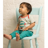 Tops & T-shirts - Little Green Radicals T-Shirt - Pale Aqua Zeppelins