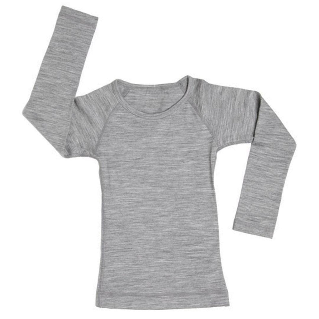 Tops & T-shirts - Nui Organics Merino Crew Top - Thermals - Silver
