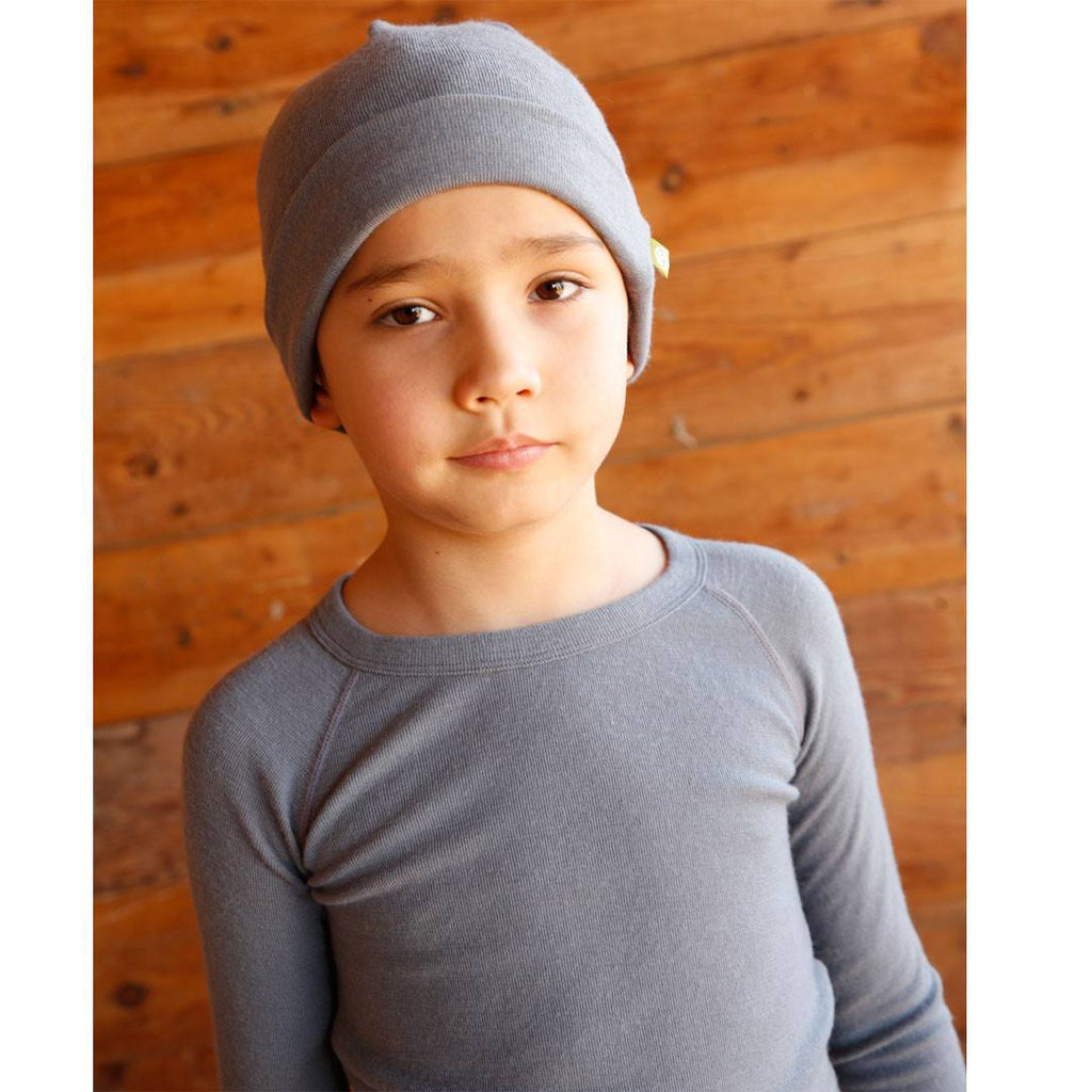 Nui Organics Merino Crew Top - Thermals - Storm - Tops & T-shirts - Natural Baby Shower