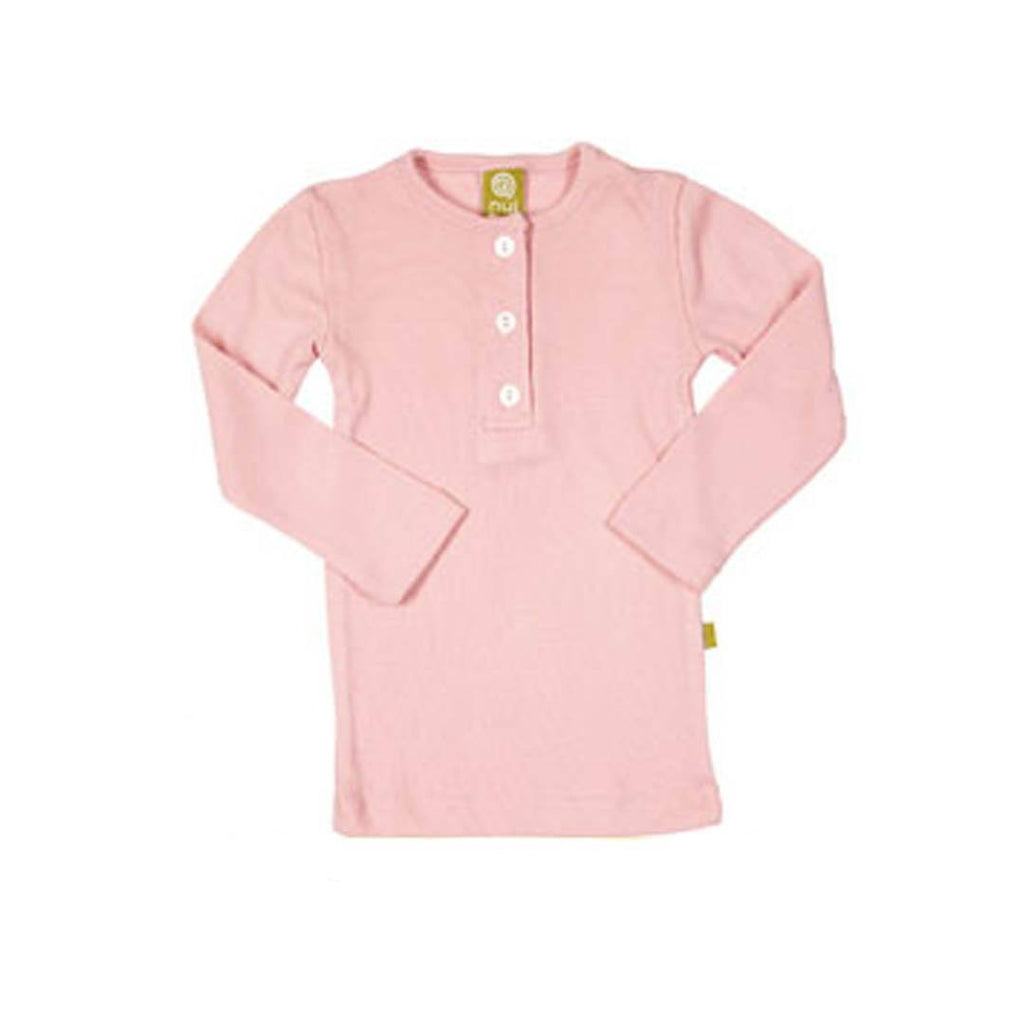 Tops & T-shirts - Nui Organics Merino Henley Top - Thermals - Blush