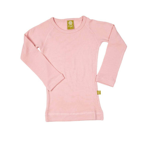Nui Organics Merino Long Sleeved Crew Top - Thermals - Blush - Tops & T-shirts - Natural Baby Shower