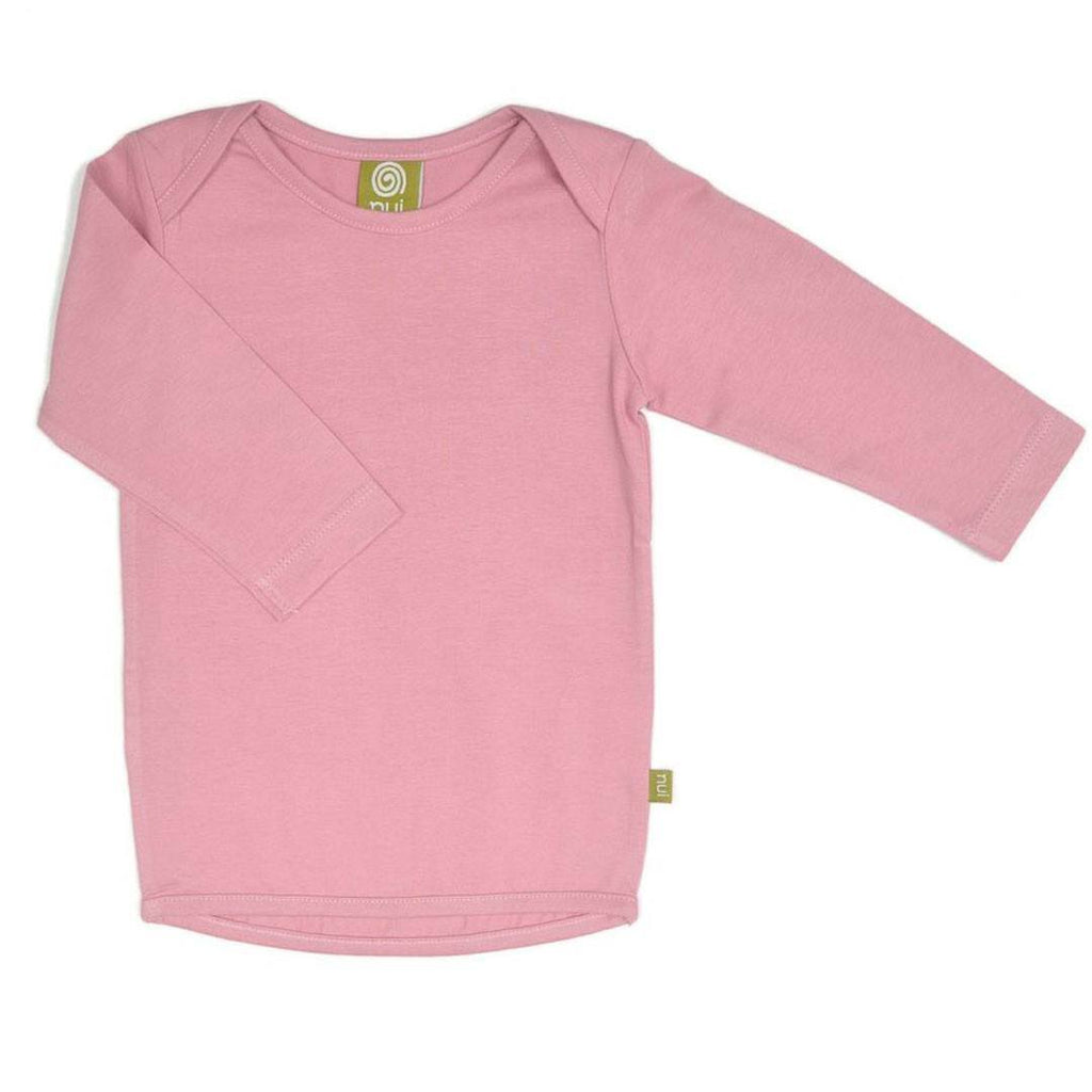 Tops & T-shirts - Nui Organics Merino Long Sleeved Tee - Rose