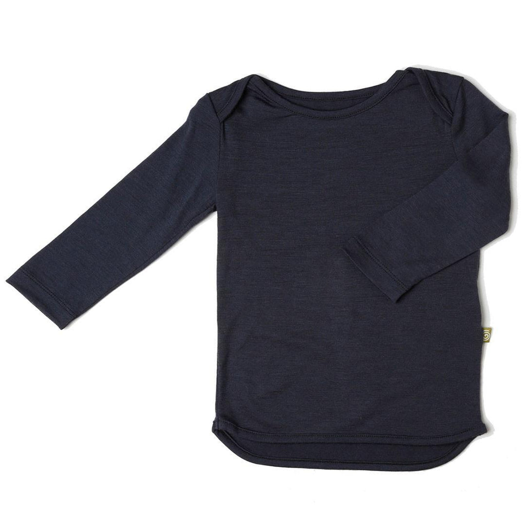 Tops & T-shirts - Nui Organics Merino Long Sleeved Tee - Slate