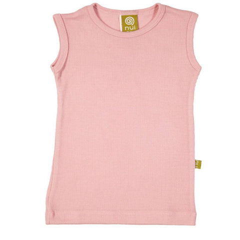 Nui Organics Merino Singlet - Thermals - Blush - Tops & T-shirts - Natural Baby Shower