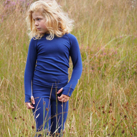 Superlove Merino Kids Top - French Navy-Long Sleeves- Natural Baby Shower