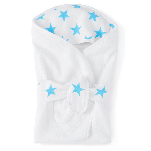Towels & Robes - Aden & Anais Baby Bath Wrap - Fluro-Blue