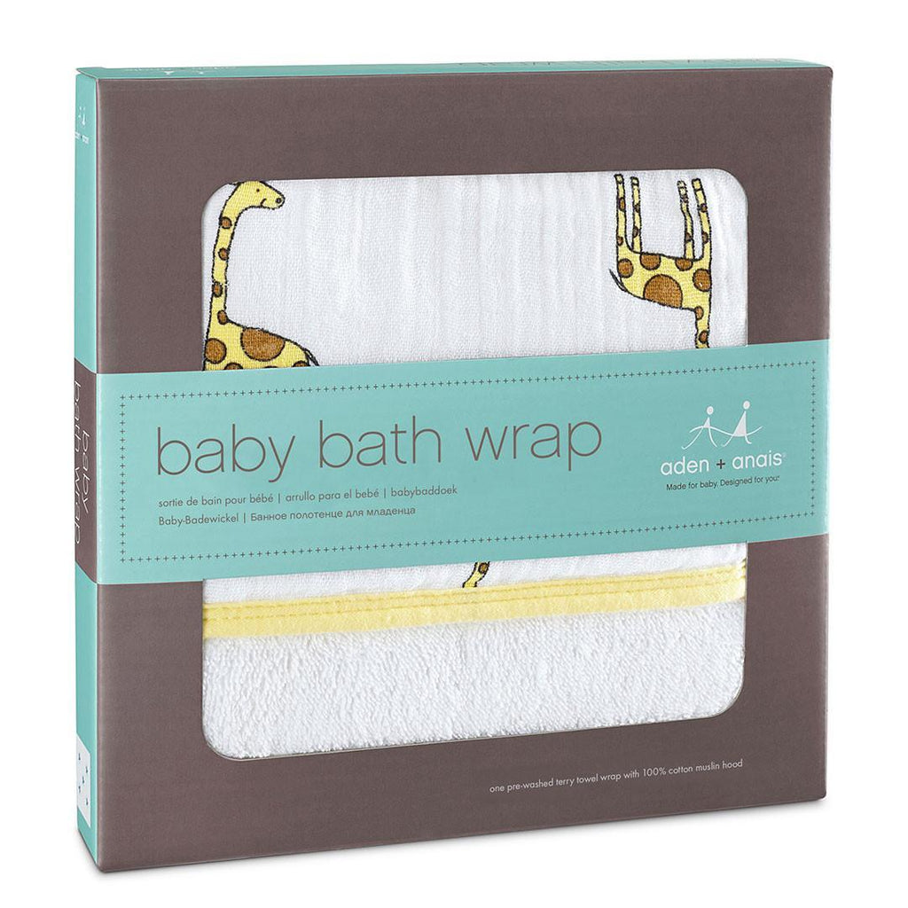 Towels & Robes - Aden & Anais Baby Bath Wrap - Jungle Jam Giraffe