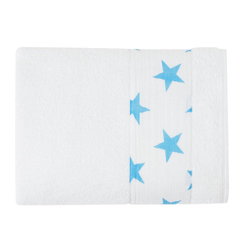 aden + anais Toddler Towel - Fluro-Blue - Towels & Robes - Natural Baby Shower