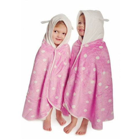 Towels & Robes - Cuddledry CuddleBug Toddler Towel - Pink Dot