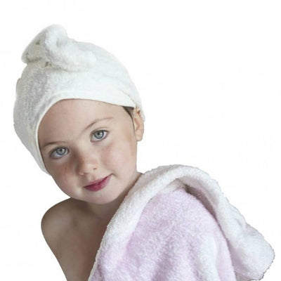 Cuddledry CuddleTwist Hair Towel-Towels & Robes-White-One Size- Natural Baby Shower