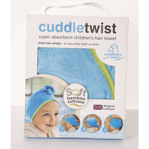 Towels & Robes - Cuddledry CuddleTwist Hair Towel - Blue