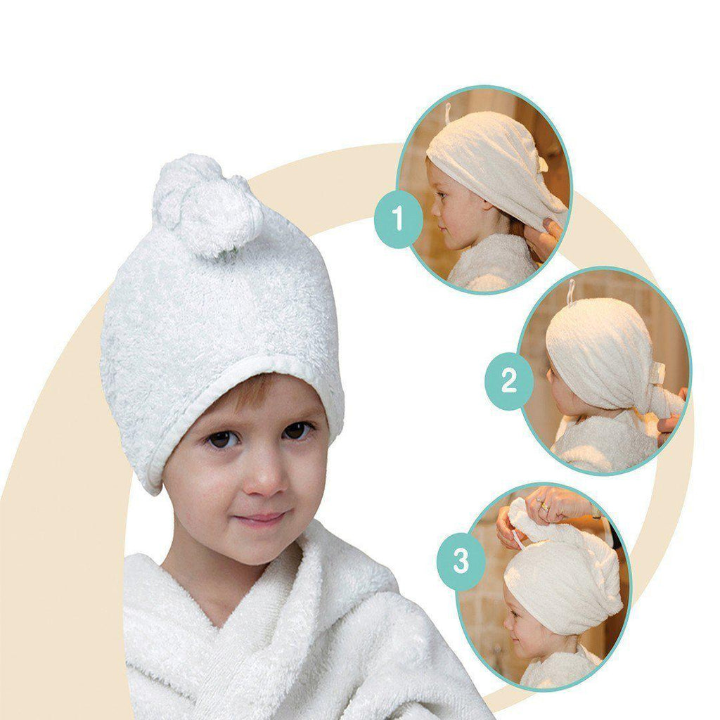 Cuddledry CuddleTwist Hair Towel - Blue - Towels & Robes - Natural Baby Shower