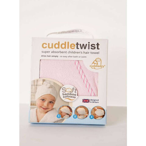 Cuddledry CuddleTwist Hair Towel - Pink - Towels & Robes - Natural Baby Shower