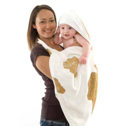 Towels & Robes - Cuddledry Original Baby Bath Towel - Cow Print