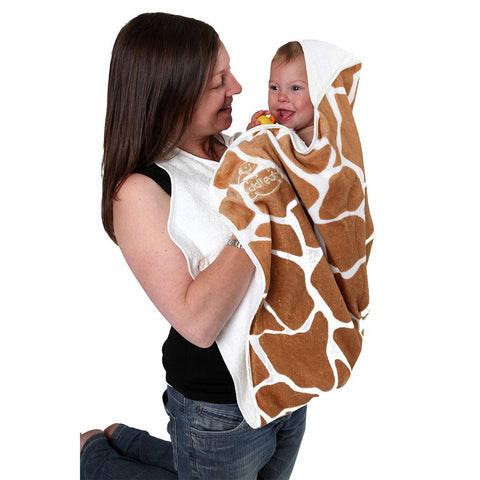 Cuddledry Original Baby Bath Towel - Giraffe Print - Towels & Robes - Natural Baby Shower