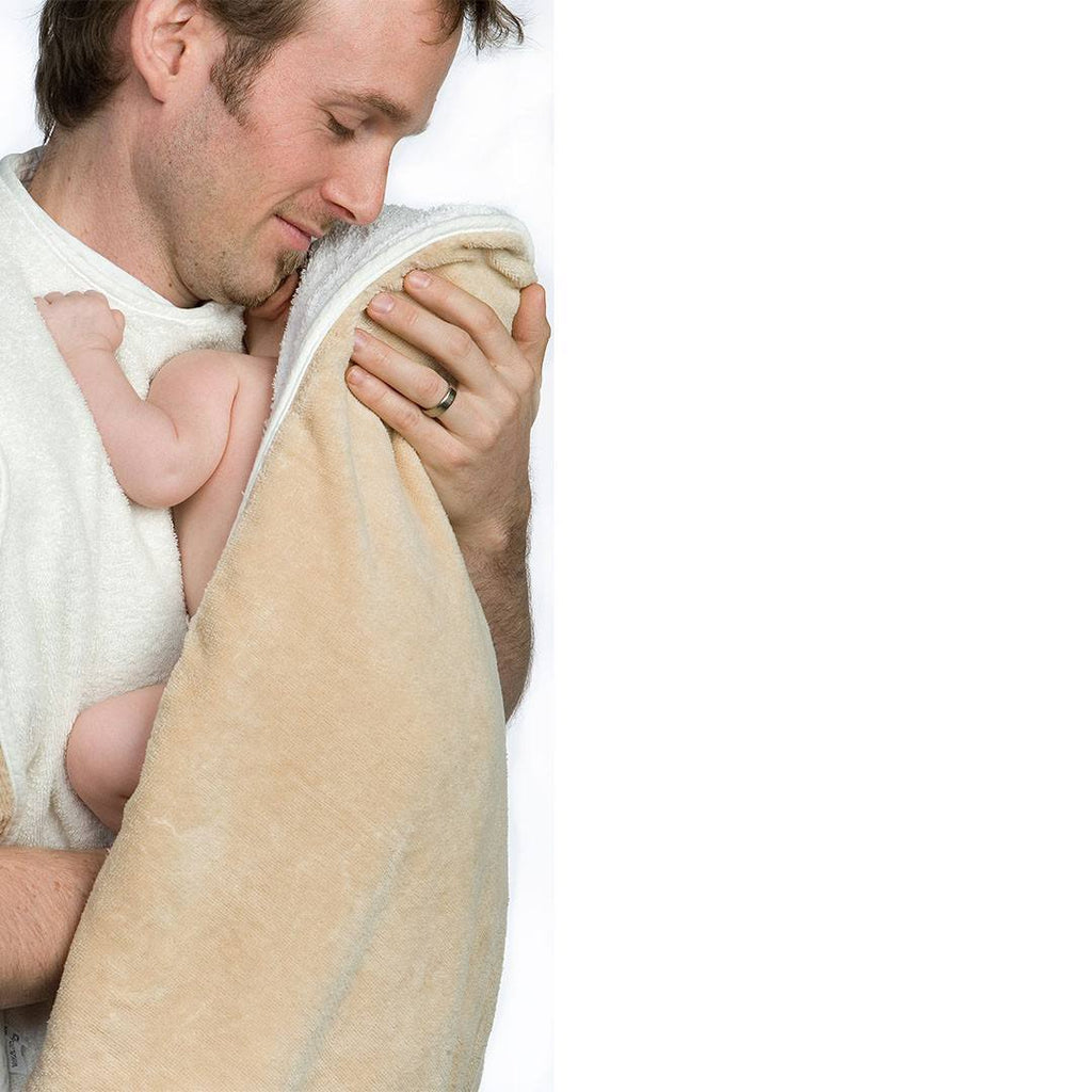 Towels & Robes - Cuddledry Original Baby Bath Towel - Oatmeal/Natural White