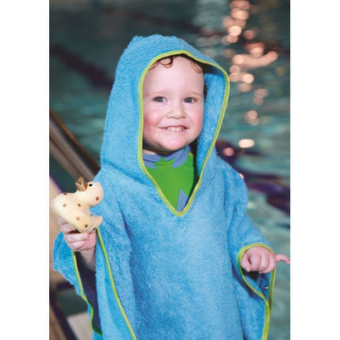 Cuddledry Swim Poncho Toddler - Lime Trim - Towels & Robes - Natural Baby Shower