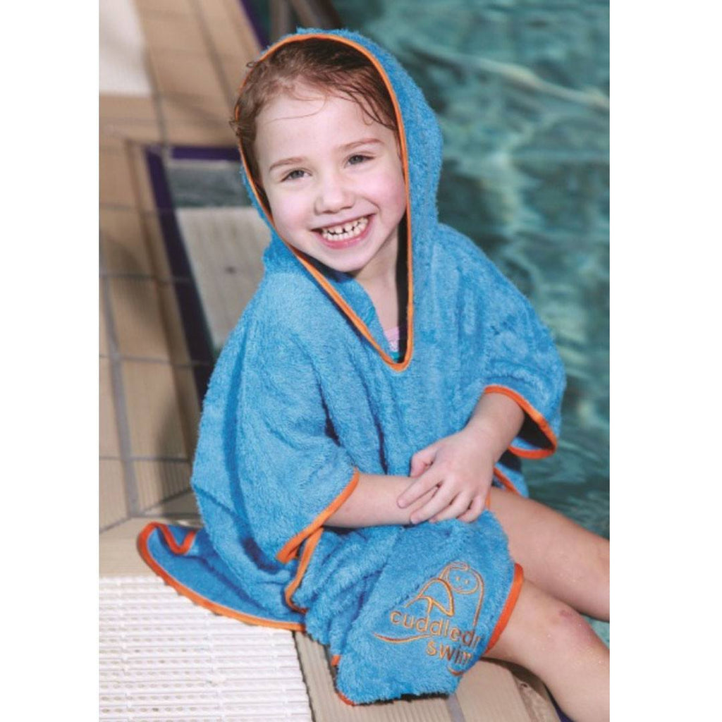 Towels & Robes - Cuddledry Swim Poncho Toddler - Orange Trim